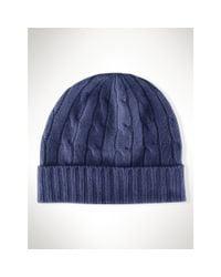 Polo Ralph Lauren | Blue Cable-knit Cashmere Hat | Lyst
