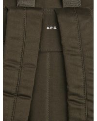 A.P.C. - Green Cotton Backpack for Men - Lyst
