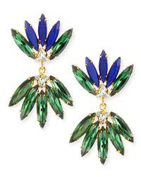Lizzie Fortunato - Blue Nude Crystal Earrings - Lyst