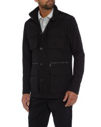 Michael Kors | Black Four Pocket Double Zip Up Utility Jacket for Men | Lyst