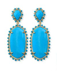 Kendra Scott - Blue Parsons Clipon Earrings Turquoise - Lyst