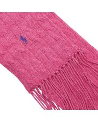 Polo Ralph Lauren | Pink Scarf | Lyst