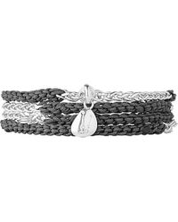 Links of London | Black Charm Wrap Bracelet | Lyst