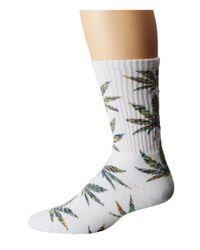 Huf | White Melange Plantlife Crew Sock | Lyst