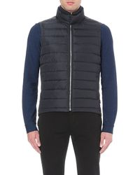 Orlebar Brown | Blue Quilted Shell Gilet for Men | Lyst