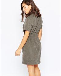 Vero Moda - Black Belted Concealed Button Shirt Dress - Lyst