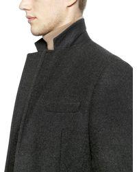 DSquared² - Gray Tokyo Wool Blend Felt Coat for Men - Lyst