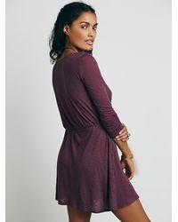 Free People - Purple Tiny Dancer Wrap Dress - Lyst