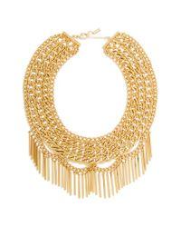 BaubleBar - Metallic 'fringe Court' Bib Necklace - Lyst