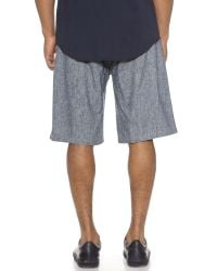 Shades of Grey by Micah Cohen - Blue Sport Shorts for Men - Lyst