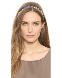 Dauphines of New York - Blue Screen Gems Headband - Emerald - Lyst