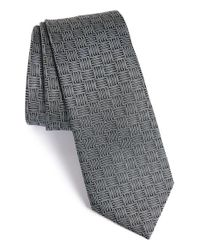 Lanvin | Gray Box Jacquard Silk Tie for Men | Lyst