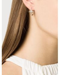 Venyx - Metallic Star Sapphire And Diamond Earrings - Lyst