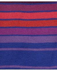 Paul Smith - Purple Graduated Block Stripe Socks for Men - Lyst