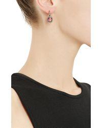 Munnu - Pink Sapphire Diamond Drop Earrings - Lyst