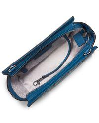 MICHAEL Michael Kors | Blue Selma Medium Leather Messenger Bag | Lyst