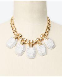Ann Taylor | Metallic Howlite Statement Necklace | Lyst