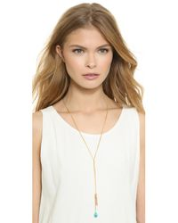 A.V. Max - Blue Double Drop Necklace - Peach/turquoise - Lyst