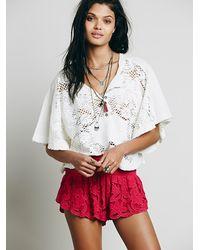 Free People | Pink Womens Kadek Textured Short | Lyst