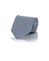 Ferragamo - Blue Men's Butterfly-print Twill Necktie for Men - Lyst