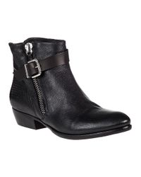 275 Central - 1112 Black Leather Boot - Lyst