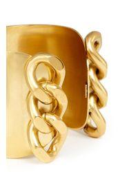 Ela Stone - Metallic Chain Brass Cuff - Lyst