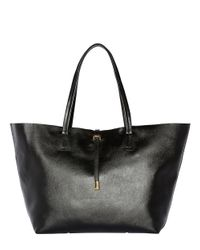 Vince Camuto | Black Leila Leather Tote Bag | Lyst