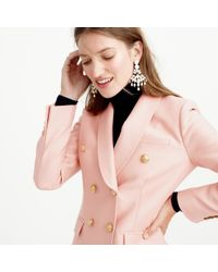 J.Crew | Pink Collection Double-breasted Blazer In Wool-silk | Lyst