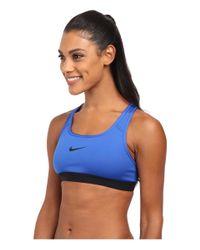 Nike | Blue Pro Bra | Lyst