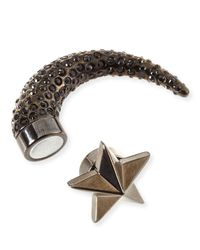 Givenchy - Brown Single Small Star Pave Crystal Shark-Tooth Earring - Lyst