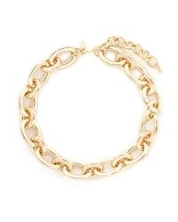 Kenneth Jay Lane - Metallic Oval Chain Link Necklace - Lyst