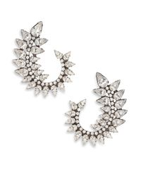 DANNIJO | Metallic Arabella Crystal Swirl Earrings | Lyst