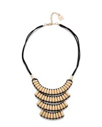 Adia Kibur | Metallic Tara Necklace - Gold/Black | Lyst