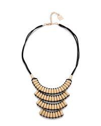 Adia Kibur | Metallic Tara Necklace - Gold/Black | Lyst