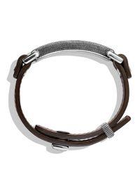 David Yurman - Brown Waves Id Bracelet With Gold - Lyst