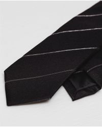 Zara | Black Shiny Slim Tie for Men | Lyst