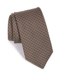 John W. Nordstrom | Brown 'carter Mini' Silk Tie for Men | Lyst