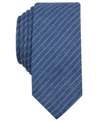 Original Penguin | Blue Alagnak Stripe Skinny Tie for Men | Lyst
