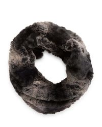 Steve Madden | Gray Faux Fur Cowl Scarf | Lyst