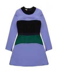 Marni - Purple Colorblock Long Sleeve Dress - Lyst