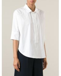 Erika Cavallini Semi Couture | White Short Sleeve Shirt | Lyst