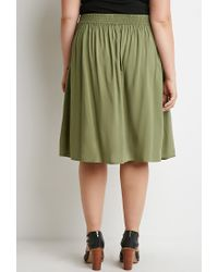Forever 21 | Green Plus Size Buttoned A-line Skirt | Lyst