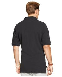 Polo Ralph Lauren - Black Big & Tall Custom-fit Mesh Polo Shirt for Men - Lyst