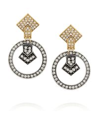 Lulu Frost | Metallic Stardust Silver-Tone Crystal Earrings | Lyst