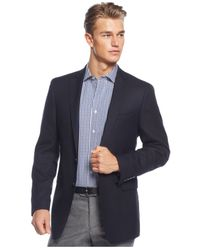 Calvin Klein | Blue Neat Classic-fit Sport Coat for Men | Lyst