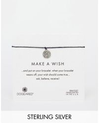 Dogeared | Metallic Sterling Silver Life's A Maze Make A Wish Bracelet - Silver | Lyst