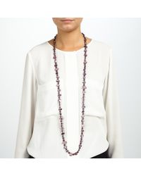 John Lewis - Purple Small Mixed Bead Long Necklace - Lyst