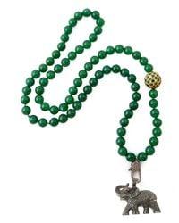 CB Bronfman - Green Diamond Elephant Bead Necklace - Lyst