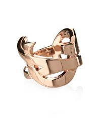 Saint Laurent - Pink Monogram Brass Ring - Lyst