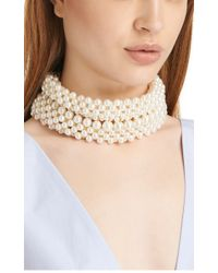 Simone Rocha - White Layered Multistrand Pearlescent Necklace - Lyst